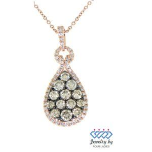Natural Dark Brown Fancy Diamond Pendant